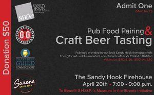 Craft Beer Tasting & Pub Fair Pairing @ Sandy Hook Volunteer Fire & Rescue | Newtown | Connecticut | United States
