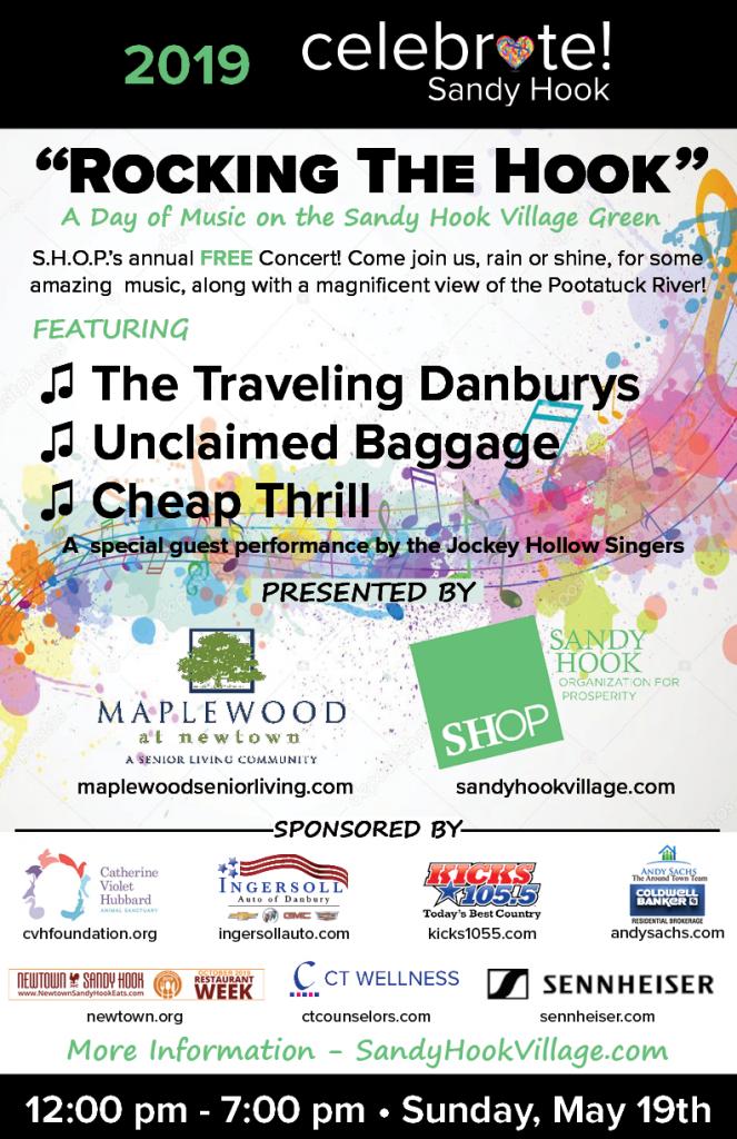 Rocking The Hook - Celebrate Sandy Hook Concert - 2019 @ Village Green | Newtown | Connecticut | United States